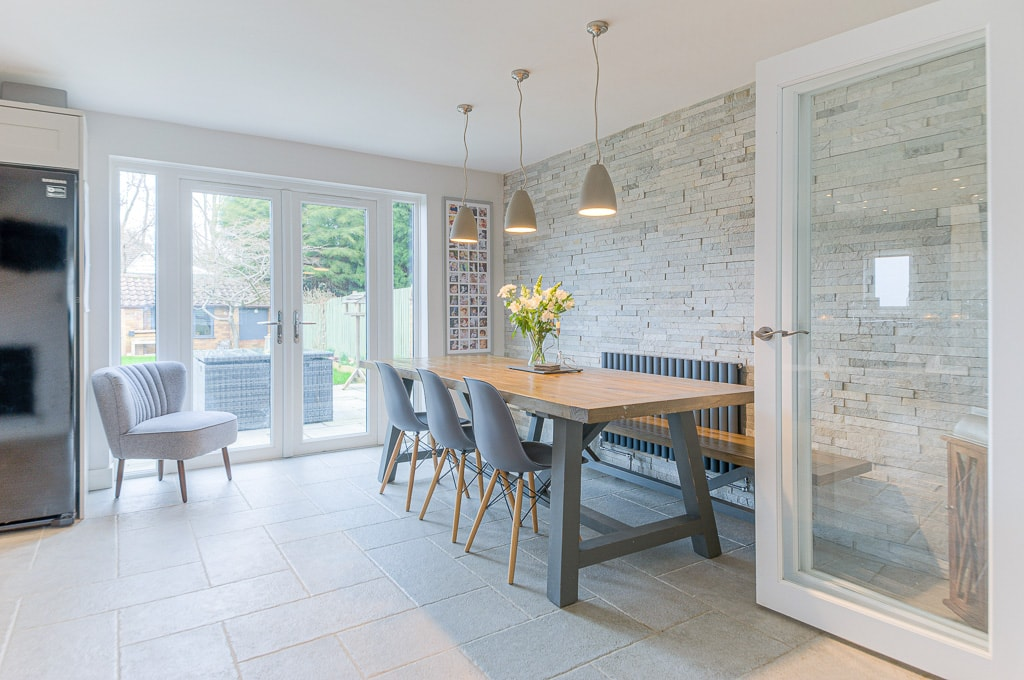 Stunning photograph of contemporary dining room